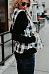Band Collar  Asymmetric Hem  Plaid Waist Coat