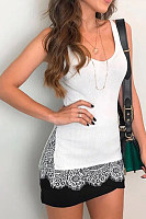 Scoop Neck Patchwork Lace Camis