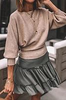 Autumn Round Neck Bat Sleeve Shirt Bottoming Shirt Jacket Women's Clothing