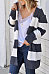 Hooded  Striped Cardigans