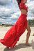Off Shoulder  High Slit  Exposed Navel  Plain  Long Sleeve Maxi Dresses