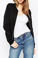 Slit Pocket Zipper  Plain Jackets
