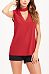 Halter  Plain Casual  T-Shirts