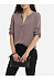 Single Breasted Decorative Buttons V Neck  Seethrough Blouse