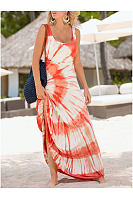 Square Neck  Printed Maxi Dresses