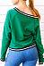 V Neck  Contrast Trim  Color Block Sweatshirts