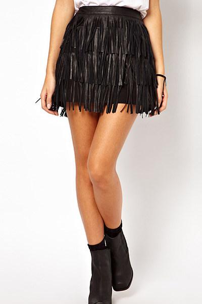 Casual Asymmetric Hem  Plain Skirts