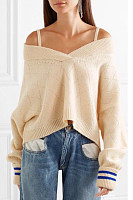 Spaghetti Strap  Backless  Plain Sweaters