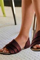 Vintage Plain Flat Peep Toe Casual  Flat Sandals