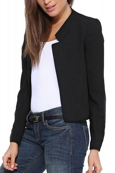 Band Collar  Plain Blazers