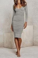 Women Sexy Plain Bodycon Dresses