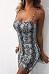 Spaghetti Strap  Animal Printed  Sleeveless Bodycon Dresses