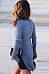 High Neck  Asymmetric Hem Side Slit Sweaters