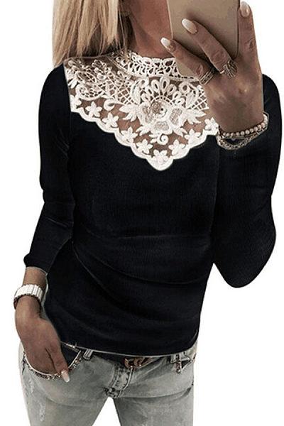 Decorative Lace Patchwork T-Shirts