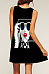 Round Neck  Graffiti  Sleeveless Casual Dresses