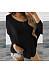 Round Neck Long Sleeve Loose Fashion Knitting T-Shirts