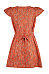 Deep V Neck  Single Breasted  Belt  Printed  Short Sleeve Casual Dresses