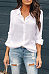 Lapel Fashion Button Long Sleeve Blouses