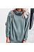 Cowl  Neck  Plain  Casual  Sweatshirts