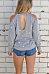 Open Shoulder Round Neck  Backless  Star Sweatshirts