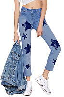 Fitted Geometric  Basic Jeans