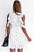 V Neck  Asymmetric Hem  Belt  Dot  Short Sleeve Casual Dresses