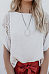 Scoop Neck  Lace Patchwork Plain T-Shirts