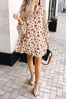 Casual Printed V Neck Dress