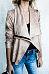 Lapel  Asymmetric Hem  Plain Jackets