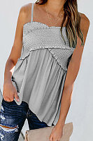 Casual Cross Ruffled Suspenders T-Shirt