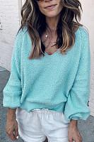 V Neck  Basic  Plain  Elegant Sweaters