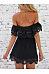 Off Shoulder  Lace Patchwork Skater Dresses