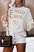 Round Neck  Batwing  Graffiti Letters T-Shirts