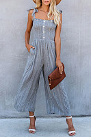 Sexy Bow Strapless Off-The-Shoulder Jumpsuit