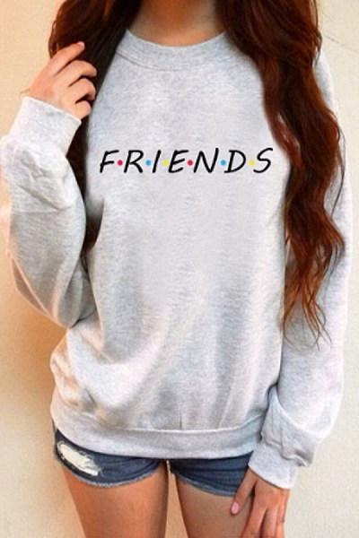 Round Neck  Letters  Sweatshirts