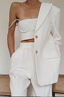 Women's Simple Solid Color Blazer