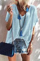 Fashion V Neck Short Sleeve T-Shirts