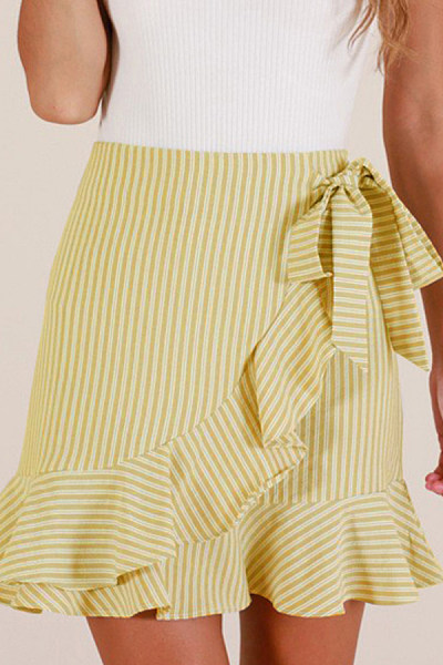 Women Casual Striped Skirts