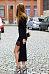 Round Neck  Asymmetric Hem Patchwork  Plain Bodycon Dresses