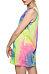 Round Neck  Tie Dye Casual Dresses