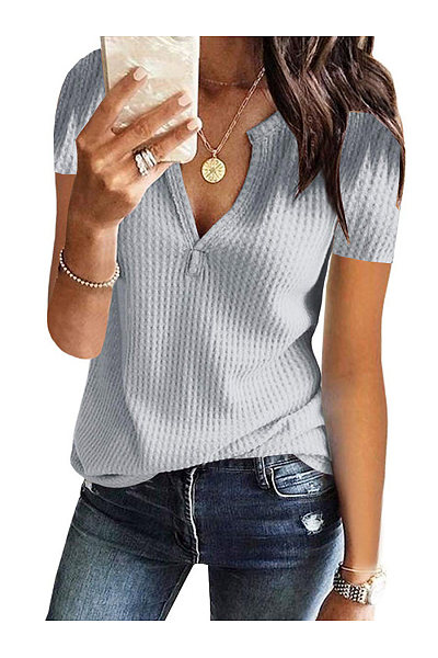 Casual V-Neck Short-Sleeved T-Shirt