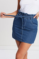 Plain  Basic Denim Skirts
