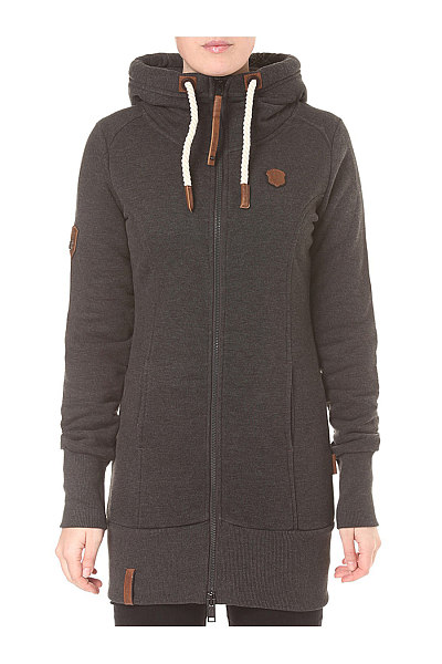 Casual Drawstring Pocket Plain Hoodie