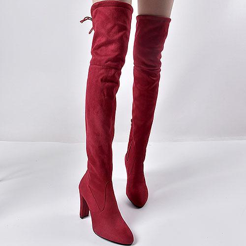 Criss Cross Chunky Plain Boots