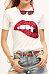 Round Neck  Glitter  Patchwork T-Shirts