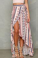 Bohemia Printed Split Beach Skirt