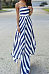 Strapless  Striped  Sleeveless Maxi Dresses