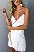 Spaghetti Strap  Asymmetric Hem Contrast Trim  Sleeveless Casual Dresses