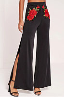 High Slit  Floral Pants