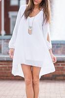 Chiffon Asymmetric Hem Casual Dresses